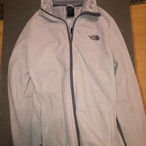 the northface jacket grayish-purple kind of color